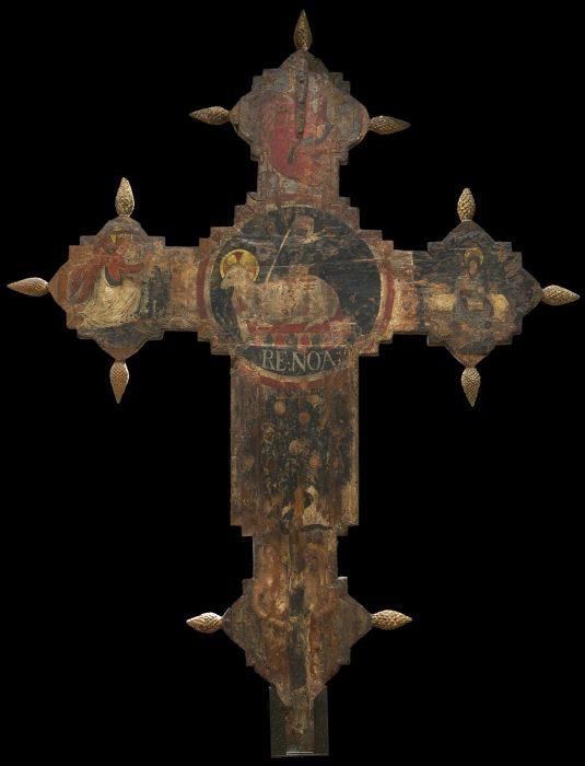 Croce dipinta - Retro