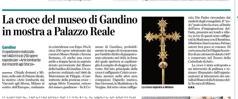 27 colzate massi e croce museo milano